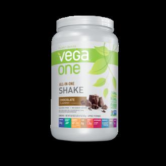 licuado nutricional sabor Chocolate Vega all in one 461  grs.